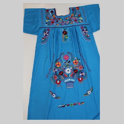 Robe Mexicaine - Taille XL - Bleue