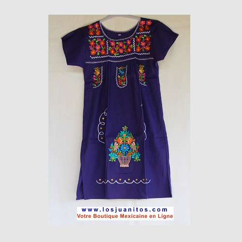 Robe Mexicaine - Taille 10 ans - Violette